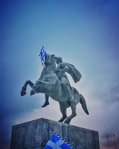 Alexander the Great king of Greeks History Alexander The Great ALEXANDER THE GREAT GREEK LEADER Alexander King Of Greeks Macedonia Macedonia Is Greek Greek History Greek Flag Greek Hero Greek King History Architecture Blue Sky Thessaloniki Thessaloniki Greece Thessaloniki_lovers Statue Sculpture Sky Blue Low Angle View