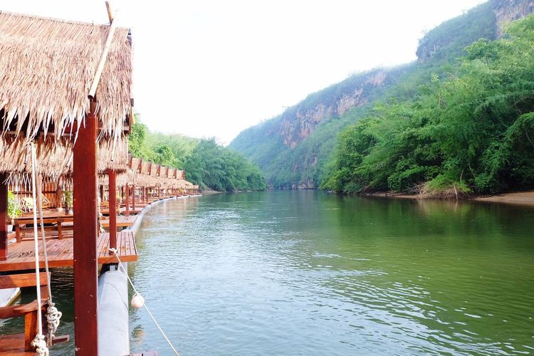 Hello World The Float House River Kwai Holidays In The Morning Relaxing Enjoying Life Chunsumonpics Khanchanaburi