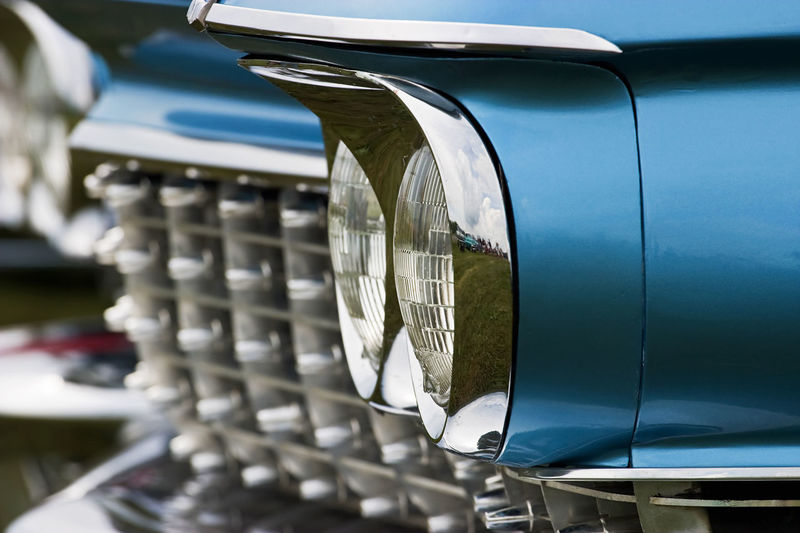 Headlight on a cadillac from the fifties