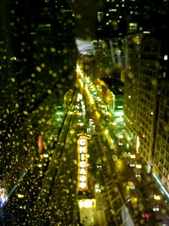 Night Illuminated Outdoors Built Structure City Building Exterior Architecture Chicago Rain Rainy Night EyeEmNewHere Cityscape Travel Destinations