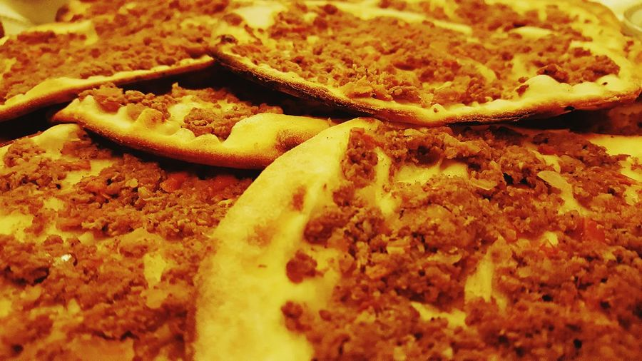 Arabic Food Lahme Baijin Food Close-up Bread Meat Pizza Pizza Lebanese Lebanon Lebanese Food Tasty Goodtime Healthy Eating Indoors  Backgrounds Ready-to-eat Large Group Of Objects Food And Drink