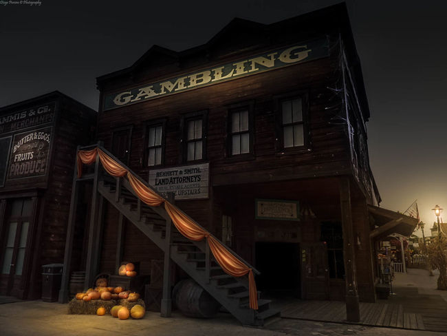 Architecture Cowboy Dark Diogo Pereira Fall Gambling Halloween Night Old Texture Old West  Portaventura Pumpkin Travel Wild West TakeoverContrast Overnight Success Night Photography The Week On Eyem The Week On EyeEm EyeEm Ready