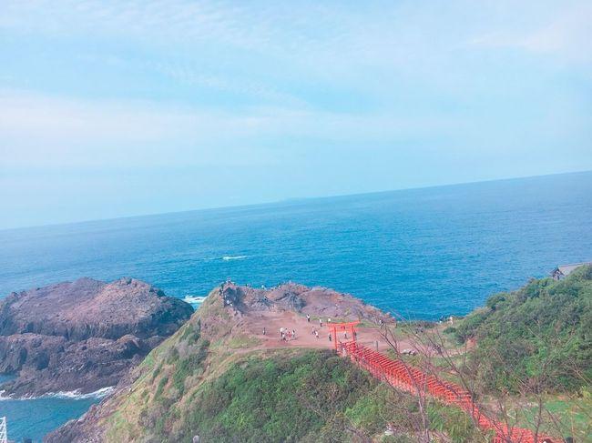 絶景すぎた😧💕想像以上でした😧💕元乃隅稲成神社🦊⛩️ 元乃隅稲成神社 山口 3連休 絶景 鳥居 Sea 海