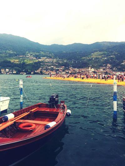 Floating Piers Sulzano Italia Italy❤️ Christo Passerella