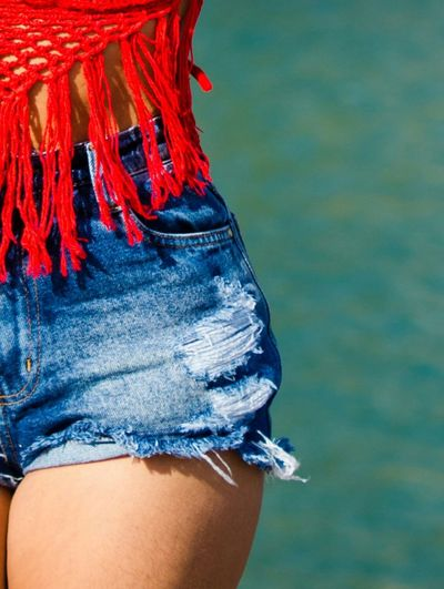Cropped image of woman wearing shorts