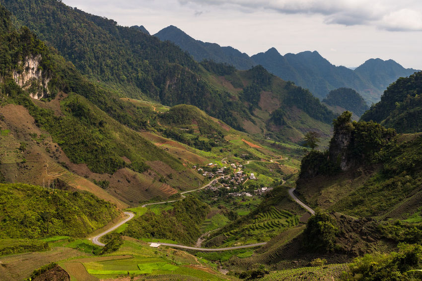 Day Ha Giang, Vietnam High Angle View Hà Giang Landscape Landscape_photography Mountain Mountain Range Rural Scene Scenics South East Asia Tranquil Scene Tranquility Viet Nam Vietnam Winding Road