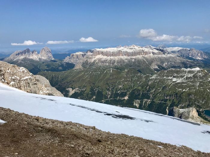 Dolomites, Italy Mountain Snow Winter Cold Temperature Beauty In Nature Sky Environment Landscape Scenics - Nature Nature Tranquil Scene No People Tranquility Day Cloud - Sky Non-urban Scene Mountain Range Snowcapped Mountain