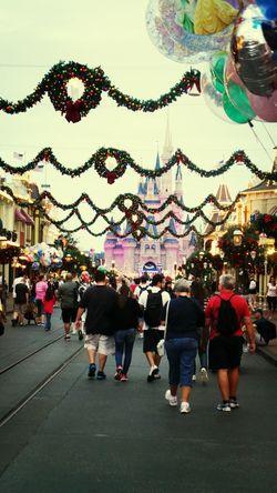 November Christmas decorations in Disneyworld