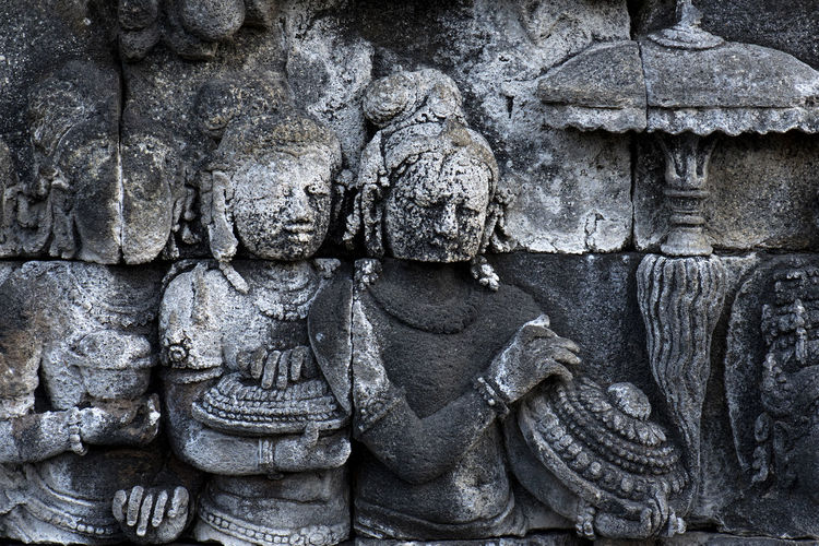 Statues of Borobudur - Magelang Central Java Indonesia Ancient Ancient Civilization Ancient History Architecture Art And Craft Belief Built Structure Craft Creativity History No People Religion Representation Sculpture Spirituality Stone Material The Past