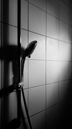 Light And Shadow Sunlight And Shadow Blackandwhite Black And White Light Sunlight Black & White Water Bathroom Domestic Room Close-up Shower Head Shower Domestic Bathroom Bathing Tile Horror