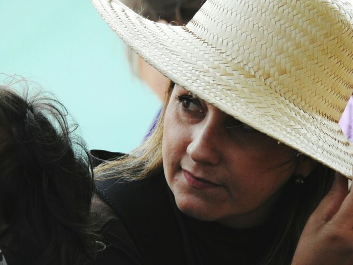 Close-Up Of Woman In Hat