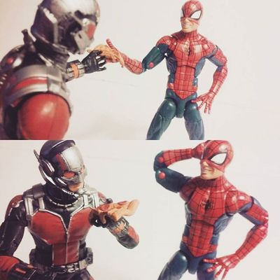 """Hey Scot some pizza man,saved you a slice since stark was hogging it all"" ""Oh Thanks spidey!"" Tcb_peekaboo Marvellegends Besties Antman Infiniteseries Baf Tcb_flyupandaway Toys4life Toysrmydrug Toyslagram Marvelentertainment Mcu Scottlang Spiderman Amazingspiderman Spidey Pizza Figurelife Figures Avengers Figurecollection Actiontoyart Actionfigures Articulatedcomicbook Nerd hasbro comics acba"