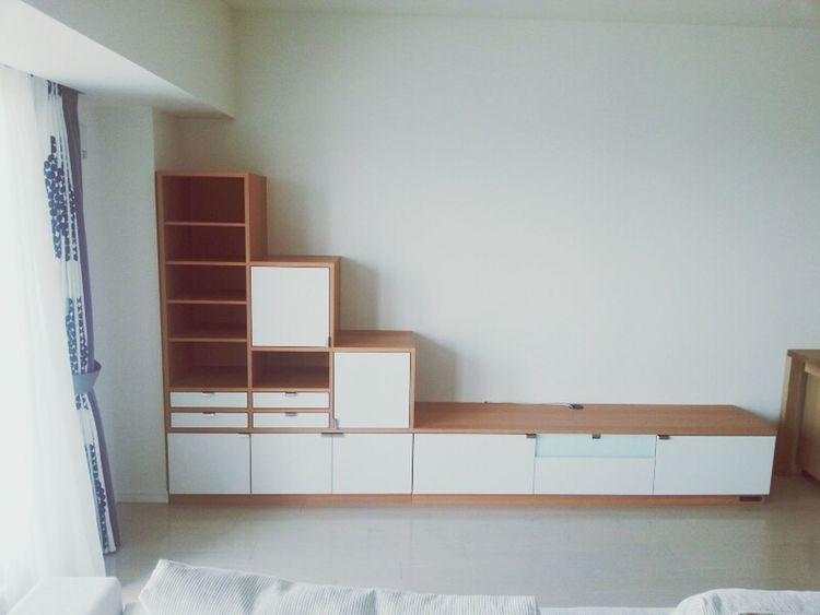 Designs Living Room 仕事 Architecture 4月、先週納品したリビングテレビボード