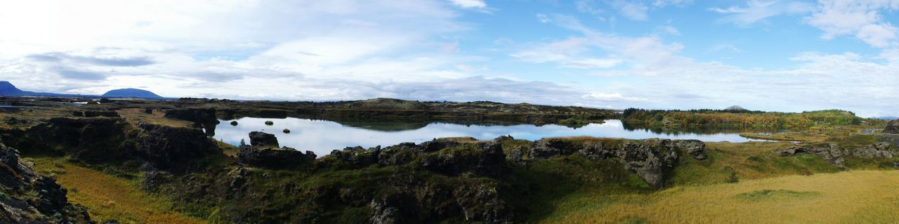 Panorama Panoramic Photography Panoramic Landscape Landscape Reflection Nature Lake Water No People Sky Beauty In Nature Reflection Myvatn Reflection Lake Iceland Iceland Trip Iceland_collection Iceland Memories ıceland Neighborhood Map The Great Outdoors - 2017 EyeEm Awards
