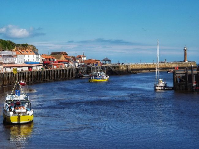 Whitby Harbour Nautical Vessel Water Vacations Moored Horizon Over Water No People The World Through My Eyes Creative Light And Shadow Fujifilm Malephotographerofthemonth Landscape Travel Destinations Vacations Whitby North Yorkshire Whitbyboats