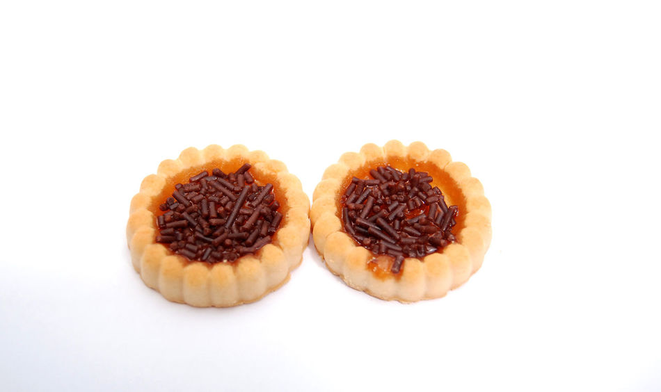bisquit cakes Bisquit Bisquit Cake Chocolate Circle Pieces Round Sweet Food White Background