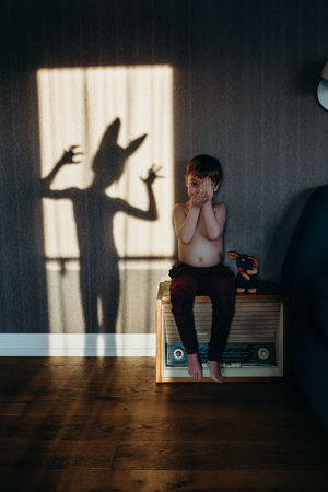 Children Kids Monster The Week on EyeEm Casual Clothing Childhood Childhood Memories Daily Life Day Full Length Game Hardwood Floor Home Interior Indoors  Leisure Activity Lifestyles One Person People Real People Shadow Standing