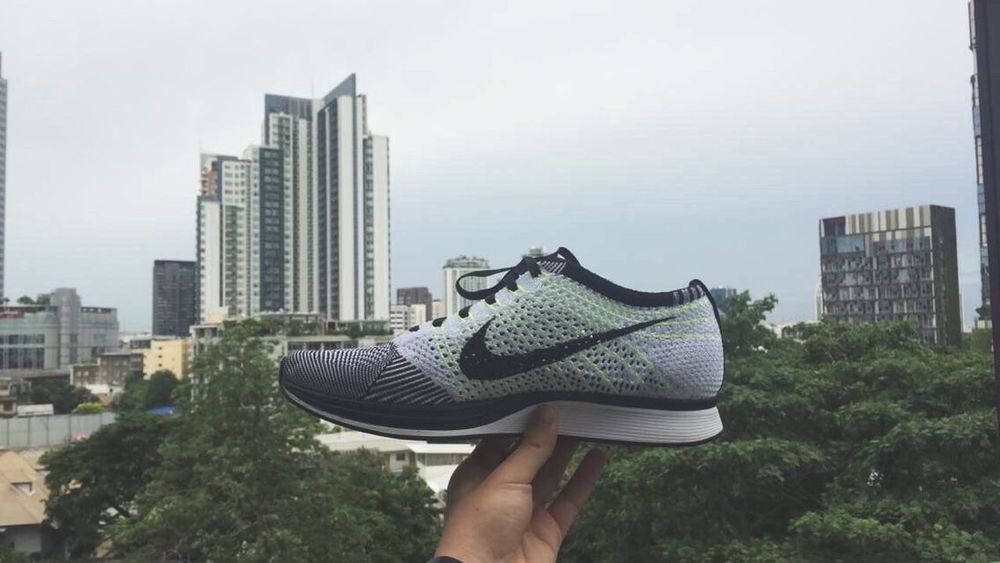 The Color Of Sport Flyknit Flyknitracer Nike Shoes City Architecture Building Exterior Built Structure Skyscraper