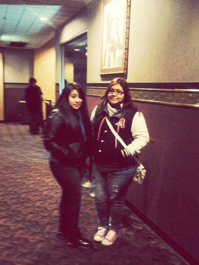 At the movies with my bestfrenn <3