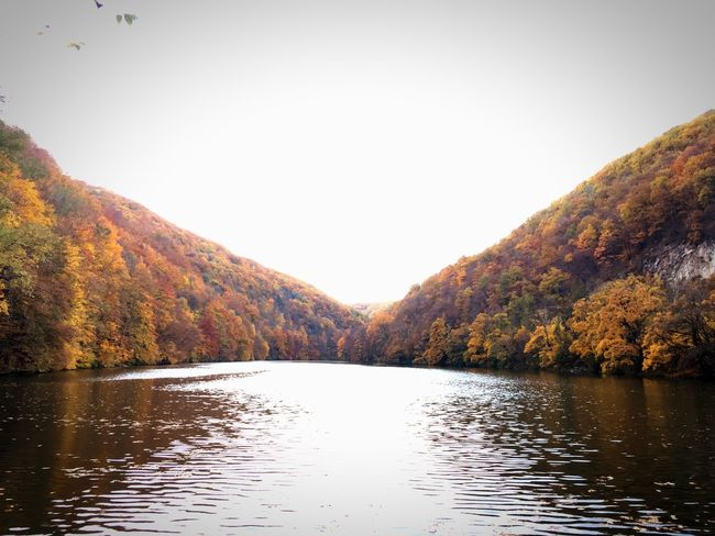 Nature Water Lake Autumn Scenics No People Outdoors Landscape Tree Beauty In Nature Sky Day Lillafüred Hungary Bükk Tranquility Fall Autumn Collection