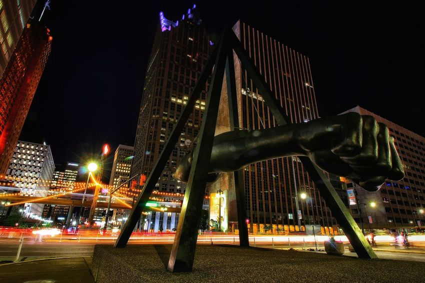Night Illuminated Architecture City Travel Destinations Outdoors No People Sky Wide Angle EyeEmNewHere Woodward Avenue Night Photography Road Long Exposure City Street Light Trail Arts Culture And Entertainment Detroit, MI Cityscape Skyline At Night Neon Life