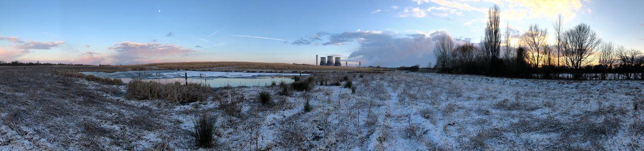A winter scene. Panoramashot Winter Cold Temperature Snow Sky Cloud - Sky Nature Weather