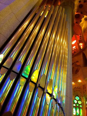 Unusual views Architecture_collection Barcelona, Spain Church Organ Pipes Churches Colourfull Modern Architecture Music Organ Organ Pipes Reflections In The Water Sagrada Familia Spaın