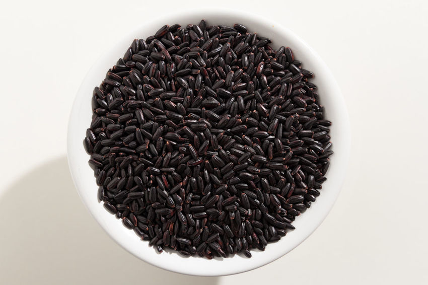 Black Rice Close-up Day Directly Above Food Food And Drink Freshness Healthy Eating Indoors  No People White Background