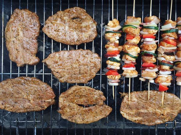 Barbecue time Directly Above No People Barbecue Meat Food Indoors  Freshness Day Ready-to-eat Close-up Minced Heat - Temperature Meal Gourmet Cooked Barbecue Grill Grilled Large Group Of Objects Serving Size Full Frame Beef Marinated Flame Smoke - Physical Structure Coal