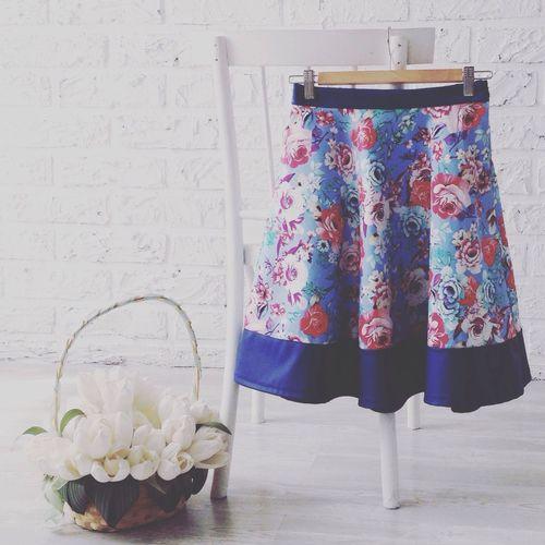 Skirt on hanger against the wall