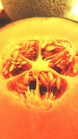 Build a longer table... Foodart Foodphotography Macro Macro_collection Macrofruitandveg Seeds Veins Upclose  Fruit Cantelope Sharpen Knives Share Give Love Cook  Taste Pallete