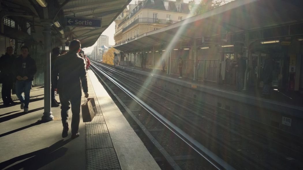 Paris November Light Railroad Station Platform Public Transportation City Life EyeEm Xiaomiphotography Streetphotography Paris