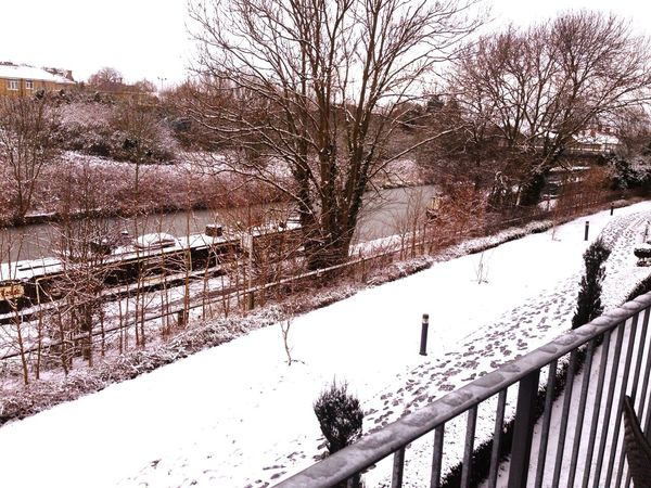 My Neighborhood Miltonkeynes Snow Let It Snow The View From My Window Enjoying The View Canal England