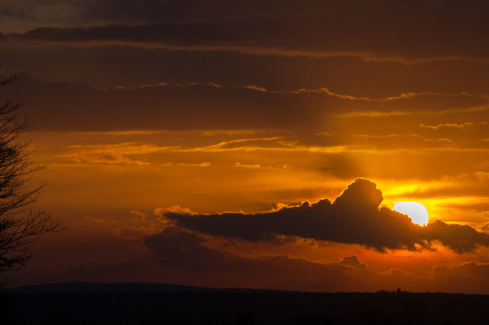 Beauty In Nature Cloud - Sky Day Dramatic Sky Idyllic Landscape Majestic Nature No People Orange Color Outdoors Scenics Silhouette Sky Sunset Tranquil Scene Tranquility