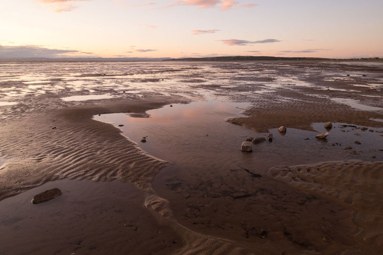 Beach Reflections Sand Bay Somerset England Textures Backgrounds Beach Beauty In Nature Day Dusk Horizon Over Water Nature No People Outdoors Rock Pool Reflections Sand Scenics Sea Seascape Sky Sun Down Sunset Tranquil Scene Tranquility Water Weston Super Mare