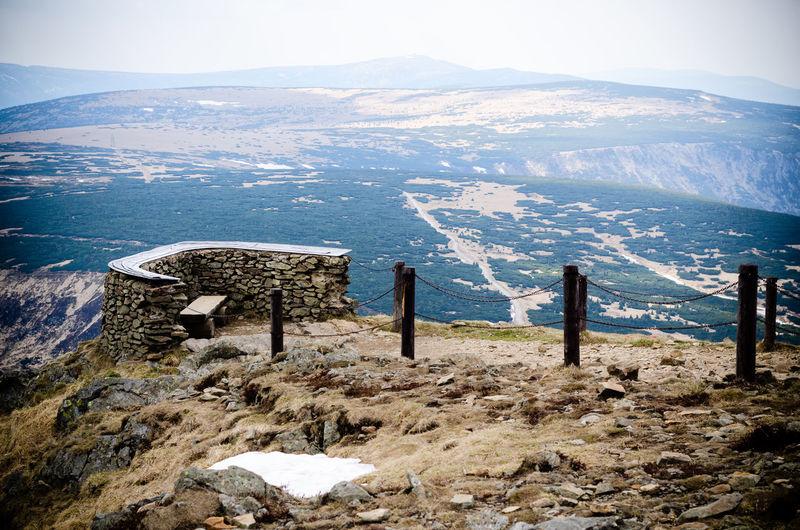 View of krkonoše mountains