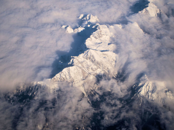 Die Alpen Landscape Aerial View Nature Mountain Snow Cloud - Sky Scenics Outdoors Cold Temperature No People Beauty In Nature Pinaceae Winter Day Rural Scene Tree Sky Space Satellite View Eye4photography  EyeEmBestPics EyeEm Best Shots