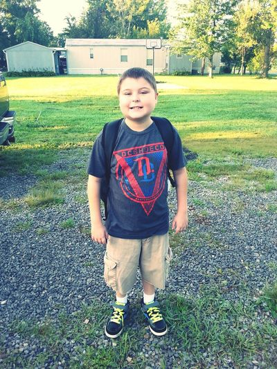 my 11 year old son first day of 5th grade