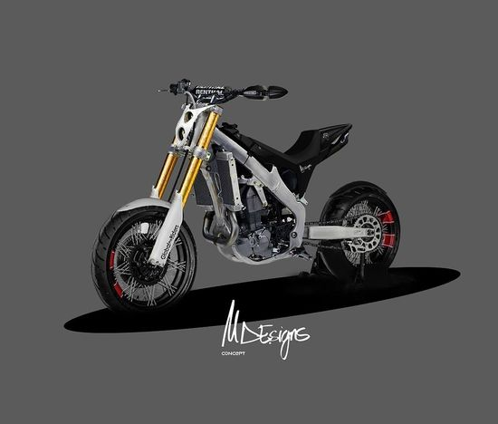 New design chasis Honda CRF+imagination. Motorcycle Own Style  Laklines Diseño Designer  Spain🇪🇸 Bikelife Biker One Person Riding Nature Sport