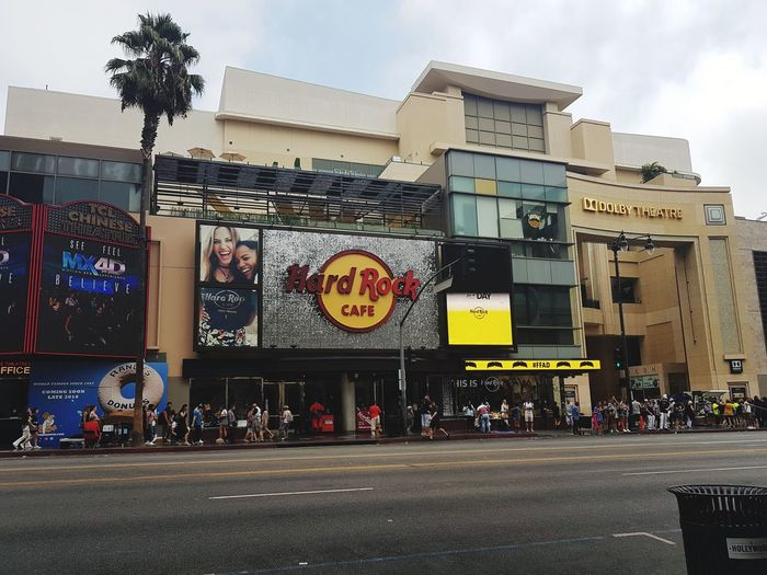 California Hollywood Hard Rock Cafe Hard Rock Hollywood City Business Finance And Industry Sky Architecture Building Exterior Built Structure