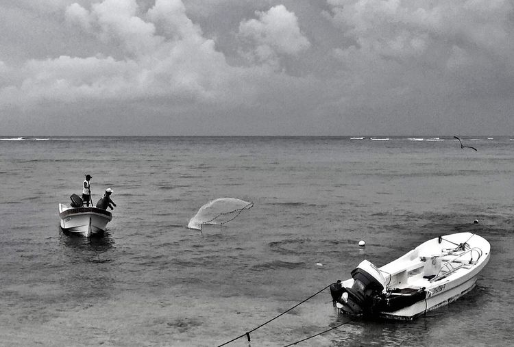 IPhoneography Respect For The Good Taste Ominous Sky Fisherman Fishing Boat EyeEm Best Shots - Nature EyeEm Best Shots - Black + White Mexico Quintana Roo