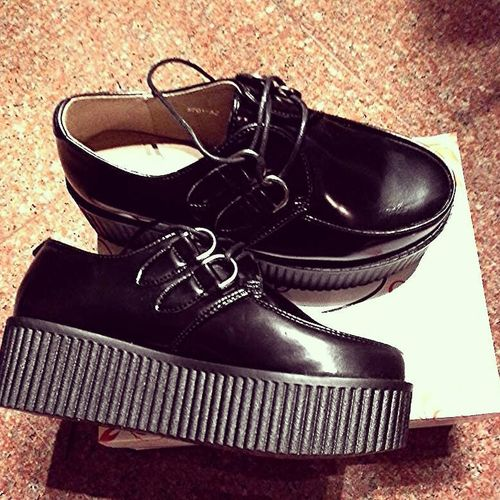 Creepers EraDaTantoCheViAspettavo Iloveit Blackshoes Beatiful Shoes ❤??❗