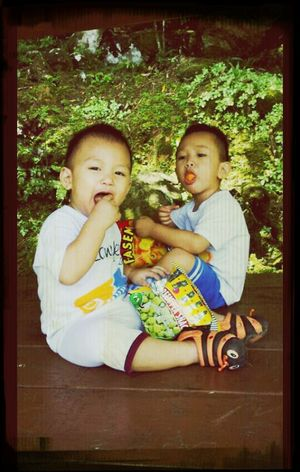 My life changed when they were born. I miss them so much. I mean..cmon! Look at these 2 monkeys! Joke! lol! Love them! Nephews Family Love Asian