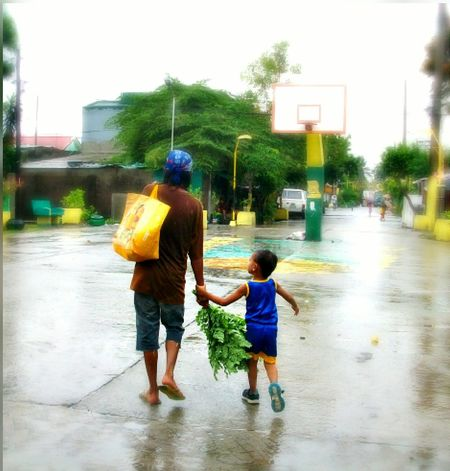 Dad loves you poverty can't stop love Rainy Days Father And Sons