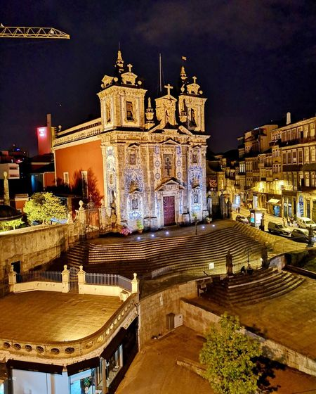 Architecture Building Exterior Built Structure Night Illuminated Building City Travel Destinations Tourism Incidental People High Angle View Religion History The Past Travel