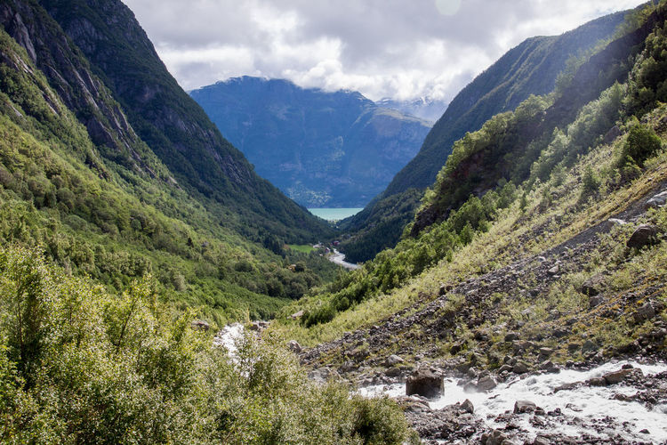 Landscapes With WhiteWall Fjord Flowing Forest Geology Green Folgefonna Greenery High Angle View Hill Holiday Landscape Mountain Mountain Range No People Norway Outdoors Physical Geography Remote River Rough Ice Age Valley Waterfall the way to Buarbreen