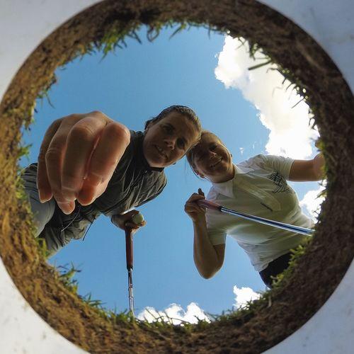 Golf Selfie From Inside The Hole...x Gopro Golf Golfing Golfer Golfcourse Hole Selfie ✌ First Eyeem Photo Lee Park Putting Ladies Girls Liverpool Merseyside Itsliverpool
