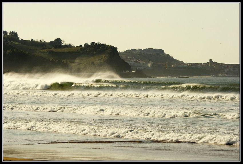 Sea Seaside Oceanside Waves, Ocean, Nature Waves Waves Crashing Playa De Zarautz