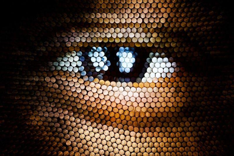 Pattern Pixelated Textured  Straws Strawcamera Circles Eye Multi Colored Illuminated Abstract Human Eye Brown Eyes Perspectives On People Visual Creativity