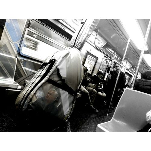 New York City Subway Subway People Mobile Photography Double Exposure Welcome To Black Subway Portraits Social Documentary Everyday Life WeekOnEyeEm Sony Xperia Z5 Premium Travel Photography Black And White